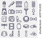 fashion icons set. set of 25...   Shutterstock .eps vector #635741420