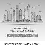 line art vector illustration of ... | Shutterstock .eps vector #635742590