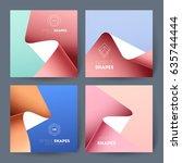 set of business brochures.... | Shutterstock .eps vector #635744444