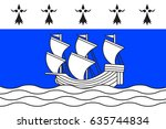 flag of redon is a commune in... | Shutterstock .eps vector #635744834