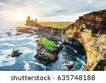 reynisfjara black sand beach in ...   Shutterstock . vector #635748188