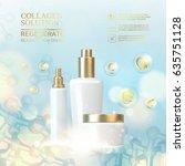 collagen regenerate cream... | Shutterstock .eps vector #635751128