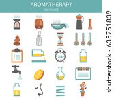 aromatherapy theme vector icons ... | Shutterstock .eps vector #635751839