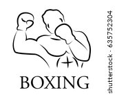 graphic boxer  vector | Shutterstock .eps vector #635752304