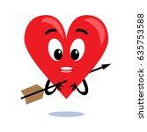 broken heart. cartoon vector...   Shutterstock .eps vector #635753588