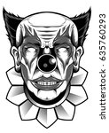 joker face clown design vector... | Shutterstock .eps vector #635760293