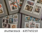 stamp collecting. philatelic.... | Shutterstock . vector #635765210