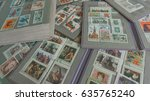 stamp collecting. philatelic.... | Shutterstock . vector #635765240