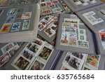 stamp collecting. philatelic.... | Shutterstock . vector #635765684