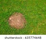 heap the soil among young... | Shutterstock . vector #635774648