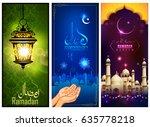 illustration of banner template ... | Shutterstock .eps vector #635778218