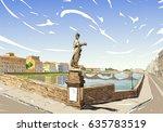 Santa Trinita Bridge River Arno ...