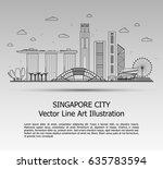 line art vector illustration of ... | Shutterstock .eps vector #635783594