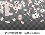 Playing Cards Aces Falling On A ...