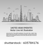 line art vector illustration of ... | Shutterstock .eps vector #635784176