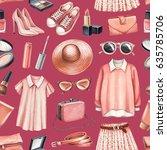 fashion illustrations. seamless ... | Shutterstock . vector #635785706