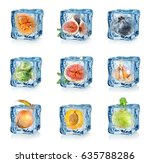 set of fruits and vegetables... | Shutterstock . vector #635788286