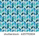 blue leaves abstract design...   Shutterstock .eps vector #635792834