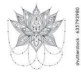 vector ornamental lotus flower  ... | Shutterstock .eps vector #635793980