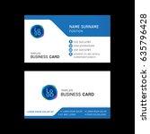 business card template design.  | Shutterstock .eps vector #635796428
