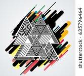 minimalistic creative concept . ... | Shutterstock .eps vector #635796464