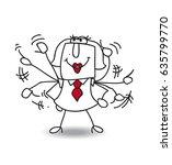 karen is a working girl. she's... | Shutterstock .eps vector #635799770