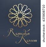 "lettering ""ramadan kareem""  ... | Shutterstock .eps vector #635808710"