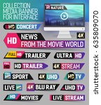 collection media banner for... | Shutterstock .eps vector #635809070