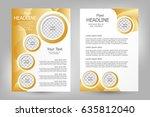 vector flyer template design.... | Shutterstock .eps vector #635812040