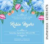bridal shower invitation... | Shutterstock .eps vector #635814476