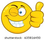 smiling yellow cartoon emoji... | Shutterstock .eps vector #635816450