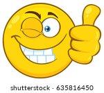 smiling yellow cartoon emoji... | Shutterstock .eps vector #635816450
