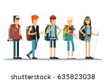 set of female and male... | Shutterstock .eps vector #635823038