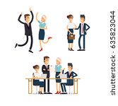 set of business team. a group... | Shutterstock .eps vector #635823044