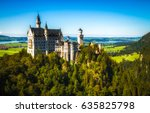 mountain castle neuschwanstein... | Shutterstock . vector #635825798