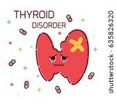 thyroid gland disorder poster.... | Shutterstock .eps vector #635826320