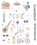 vector summer illustrations and ... | Shutterstock .eps vector #635829974