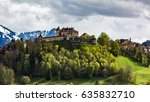 view of the castle and village...   Shutterstock . vector #635832710