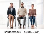 group of ambitious confident... | Shutterstock . vector #635838134