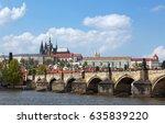 prague  czech republic. charles ... | Shutterstock . vector #635839220