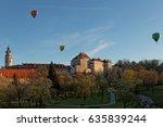 view of castle of cesky krumlov ... | Shutterstock . vector #635839244
