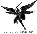 archangel sword strike | Shutterstock .eps vector #635841200