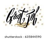 great job card  banner....   Shutterstock .eps vector #635844590
