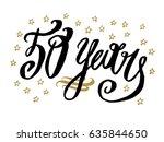 50 years card  banner....   Shutterstock .eps vector #635844650