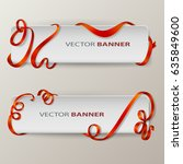 abstract vector banners set. | Shutterstock .eps vector #635849600
