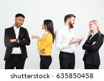 image of a group of happy... | Shutterstock . vector #635850458