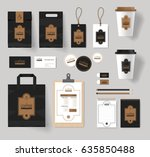 corporate branding identity... | Shutterstock .eps vector #635850488