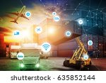 business logistics concept ... | Shutterstock . vector #635852144