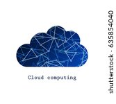 cloud computing or social... | Shutterstock .eps vector #635854040