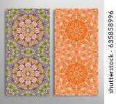 vertical seamless patterns set  ... | Shutterstock .eps vector #635858996